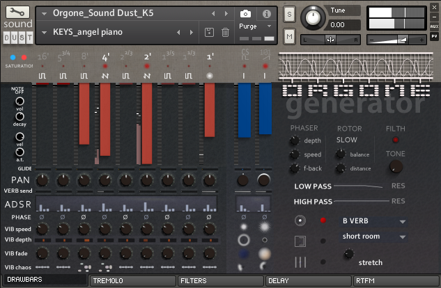 sound DUST ORGONE KONTAKT
