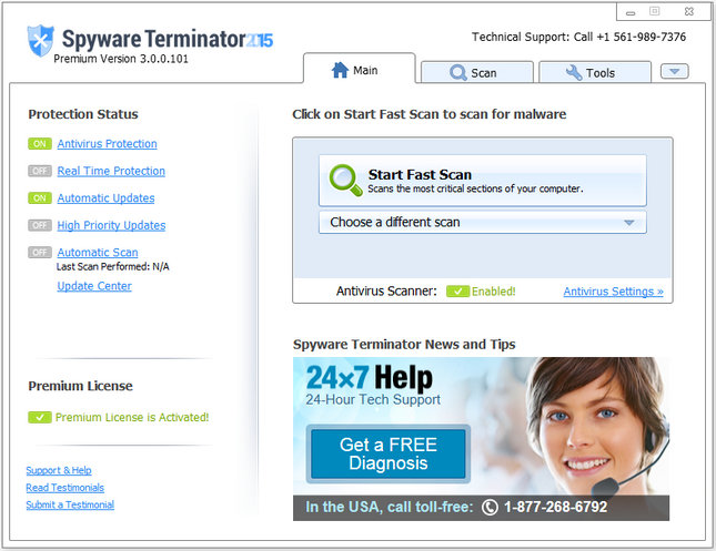 Spyware Terminator Premium 2015 3.0.0.101 Multilingual Portable
