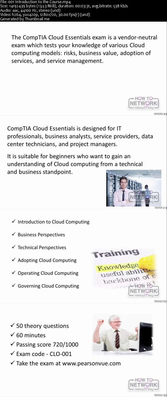 Cloud Computing - CompTIA Cloud Essentials Certification