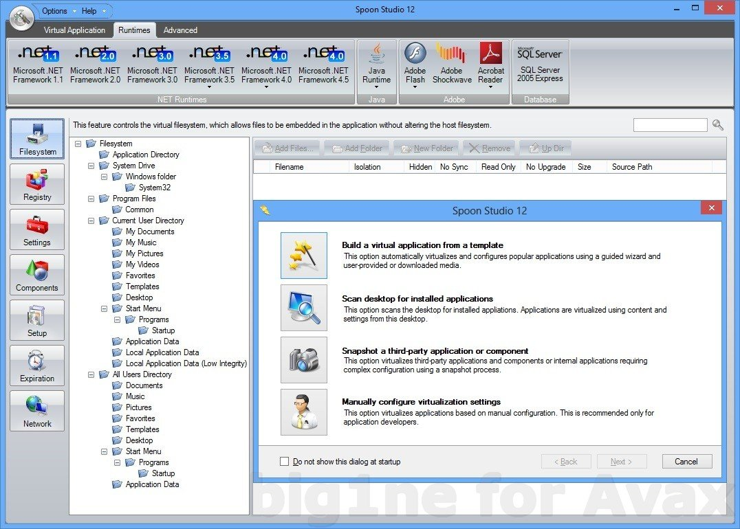 Spoon Virtual Application Studio 12.0.340