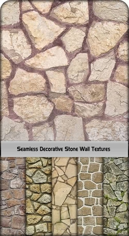 Seamless Decorative Stone Wall Textures