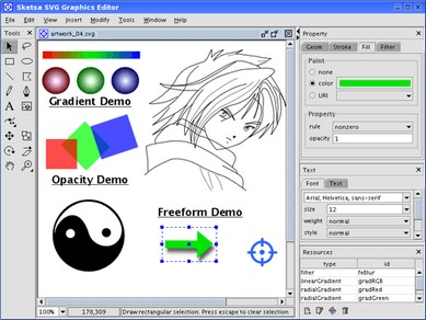 Sketsa SVG Editor v6.4.0 MultiOS + MacOSX version