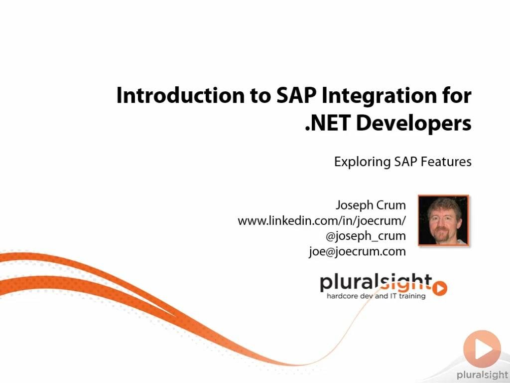 Introduction to SAP Integration for .NET Developers