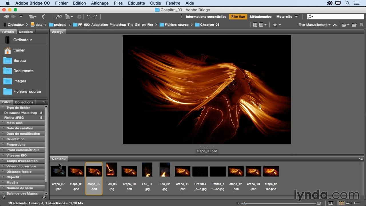 Photoshop CC : Girl on fire