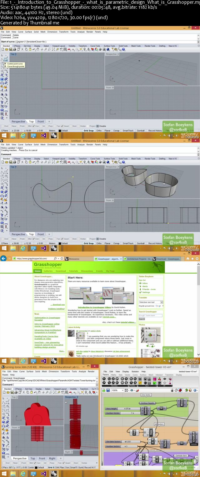 Develop Parametric Architecture with Grasshopper