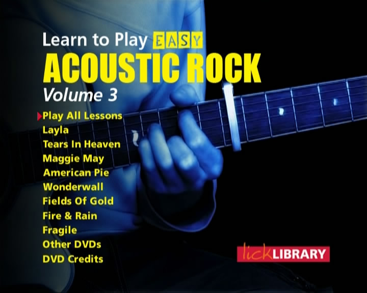 Learn To Play - Easy Acoustic Rock - Volume 3