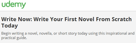 Write Now: Write Your First Novel From Scratch Today