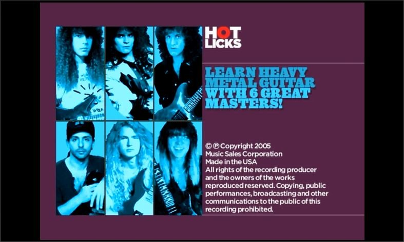 Hot Licks: Learn Heavy Metal Guitar with 6 Great Masters (Repost)