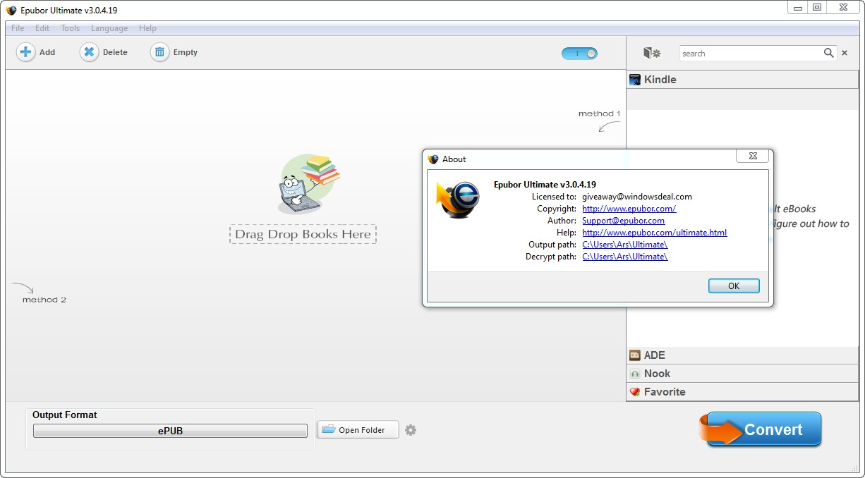 Epubor Ultimate Converter 3.0.4.19