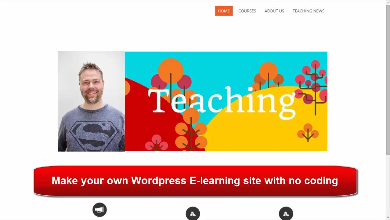 Your Own Learning Management Site With WordPress - No Coding