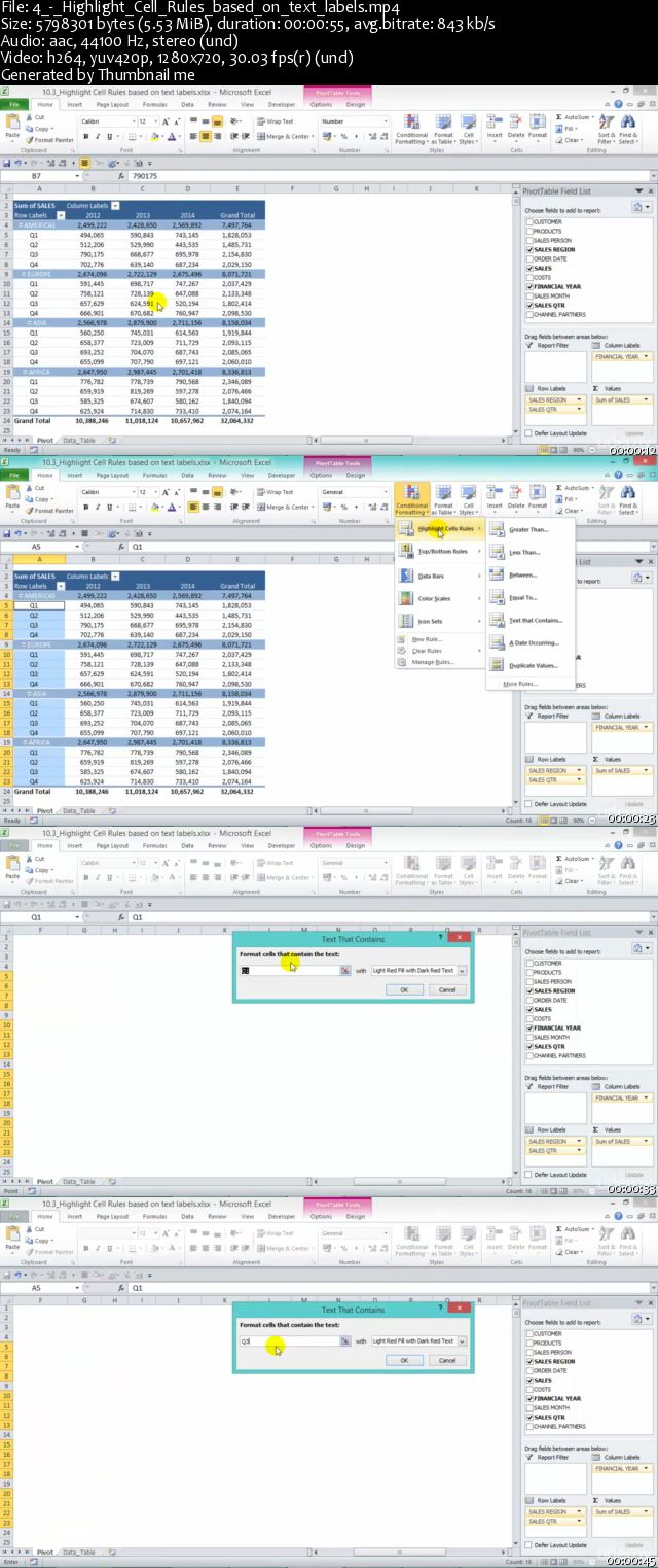 Excel With Excel Pivot Tables: Conditional Formatting