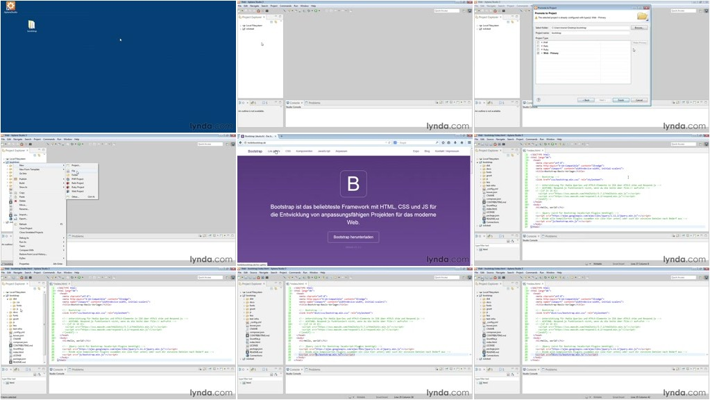 Video2Brain - One-Page-Webseiten mit Bootstrap, LESS und Sass