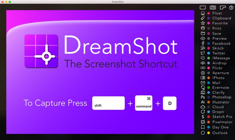 DreamShot 2.0 Mac OS X