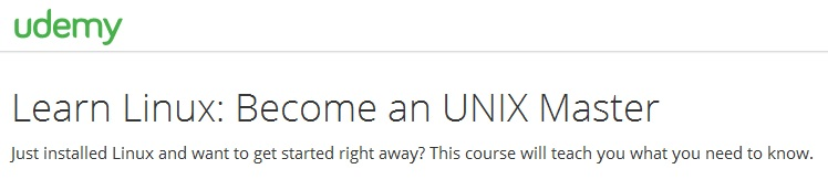 Learn Linux: Become an UNIX Master