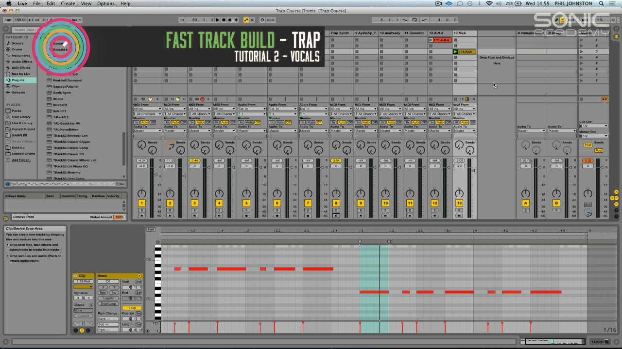 Sonic Academy: Fast Track Build - Trap In Ableton Live 9