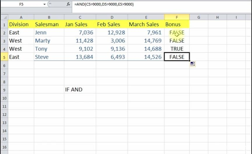 Master Excel Functions
