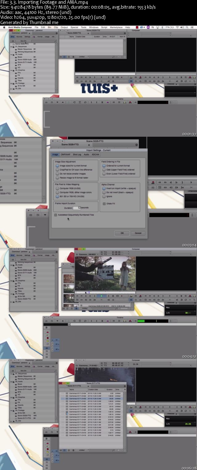 Tutsplus - Introduction to Video Editing in Avid Media Composer
