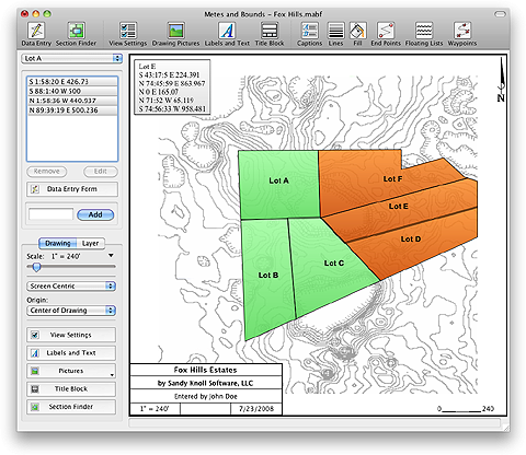 Sandy Knoll Software Metes and Bounds 4.8.0 (Win / Mac)