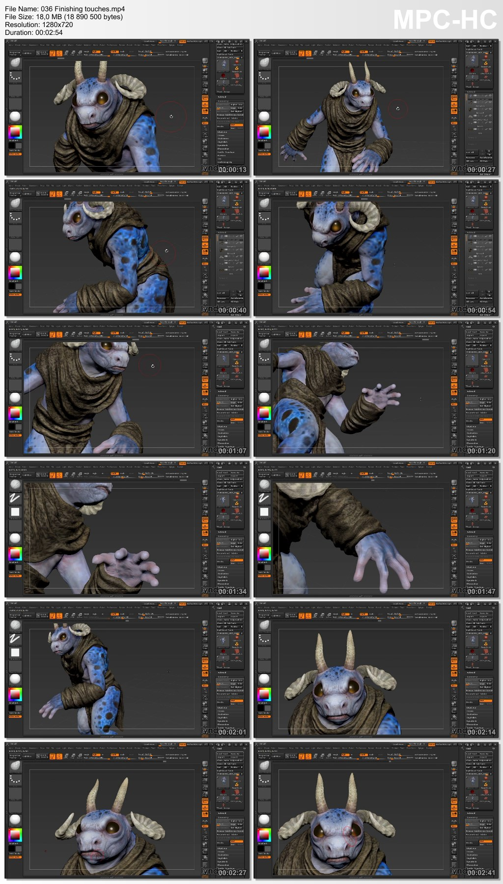 Lynda - Sculpting a Creature with ZBrush and Photoshop