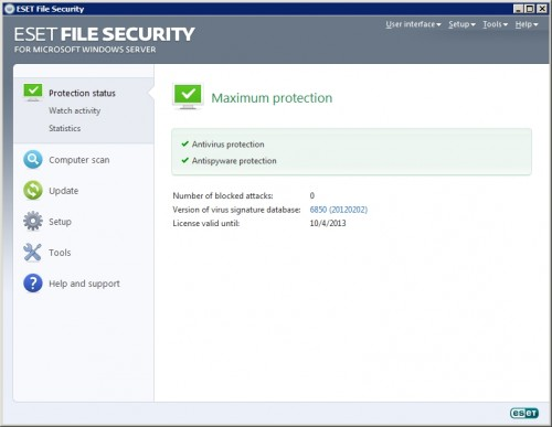 ESET File Security 6.0.12035.1