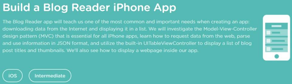 Teamtreehouse - Build a Blog Reader iPhone App