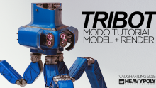 Gumroad – MODO Intermediate: Tribot by Vaughan Ling