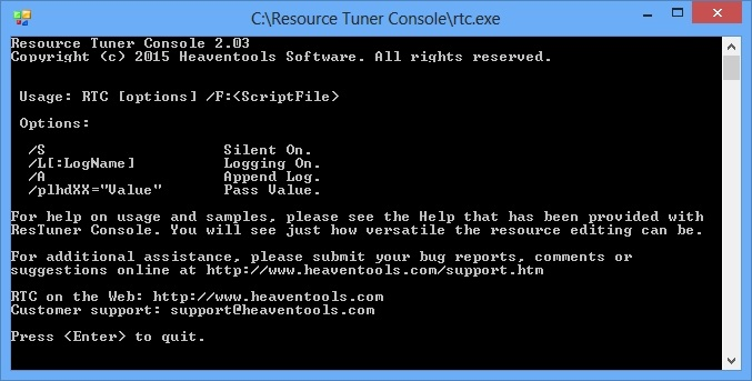 Resource Tuner Console 2.03 Multilingual