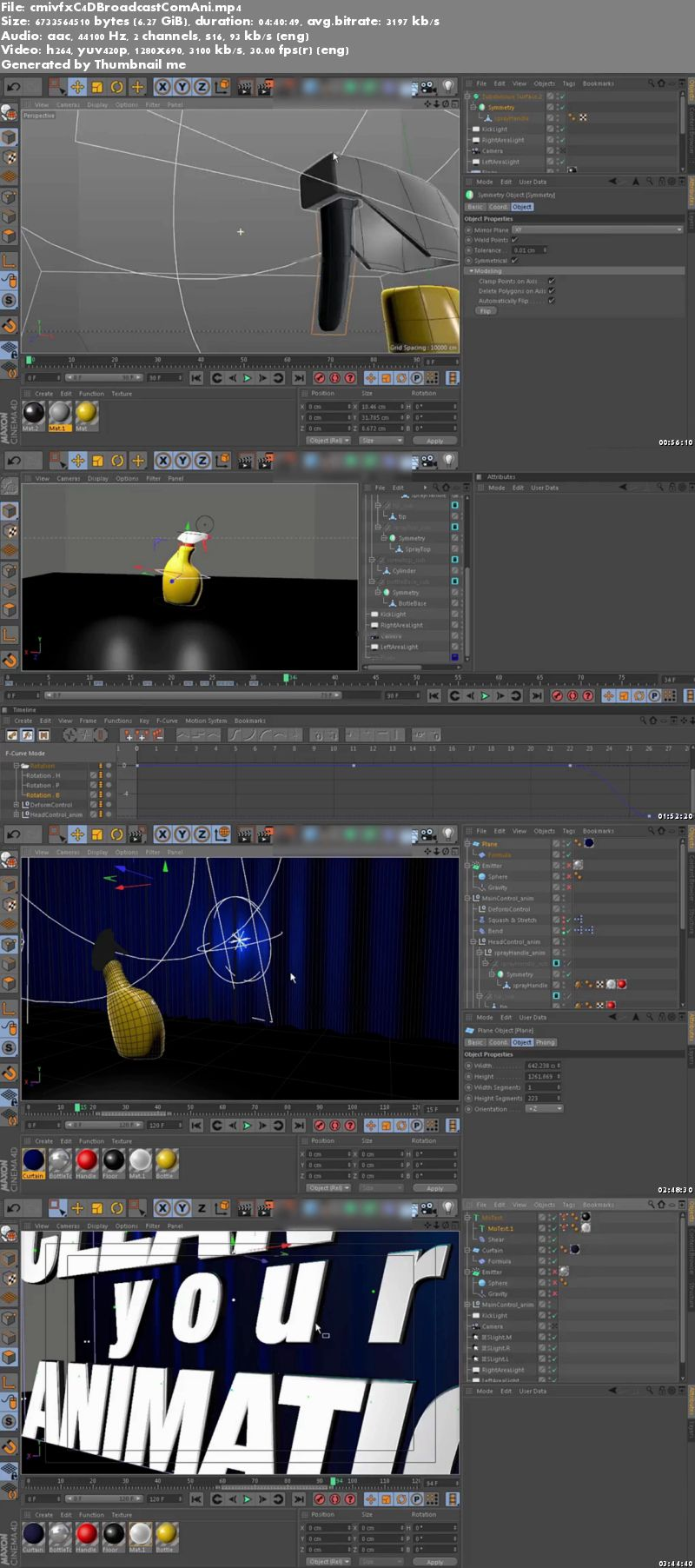 Cinema 4D Broadcast Commercial Animation