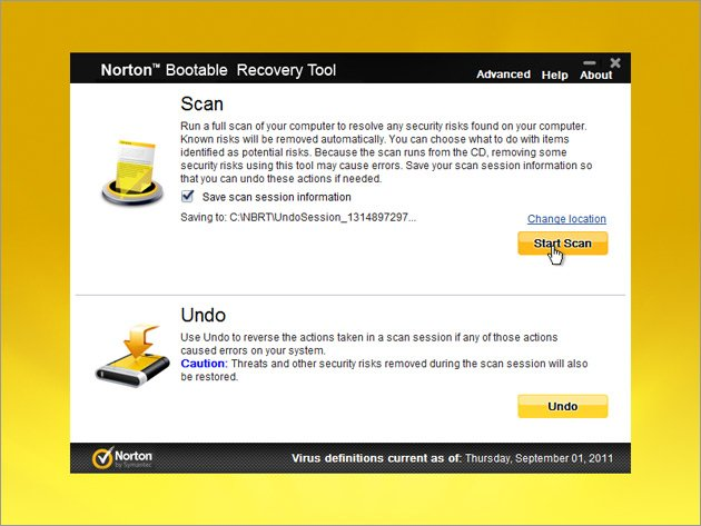Norton Bootable Recovery Tool 7.1.0.26 WinPE Edition BootCD (x64)