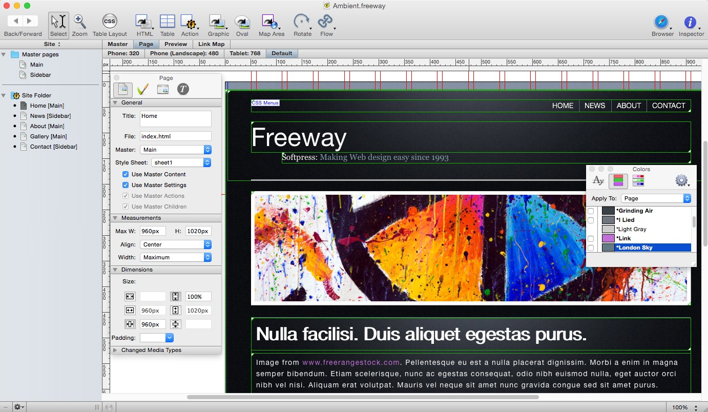 FreeWay Pro 7.0.4 Multilangual Mac OS X