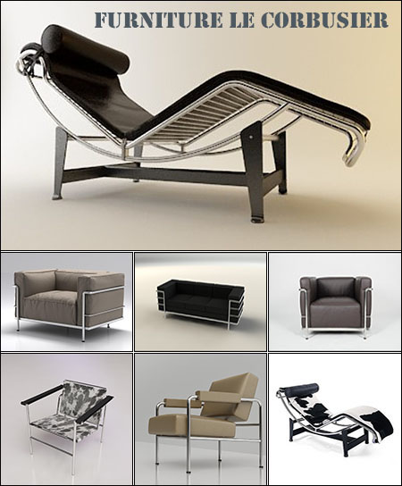 3D models of Furniture Le Corbusier