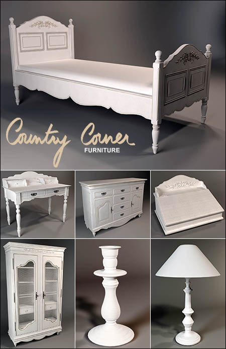 3D models of Furniture Country Corner