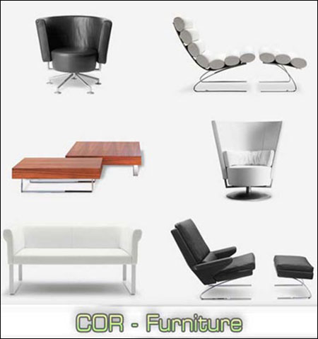3D models of COR Furniture