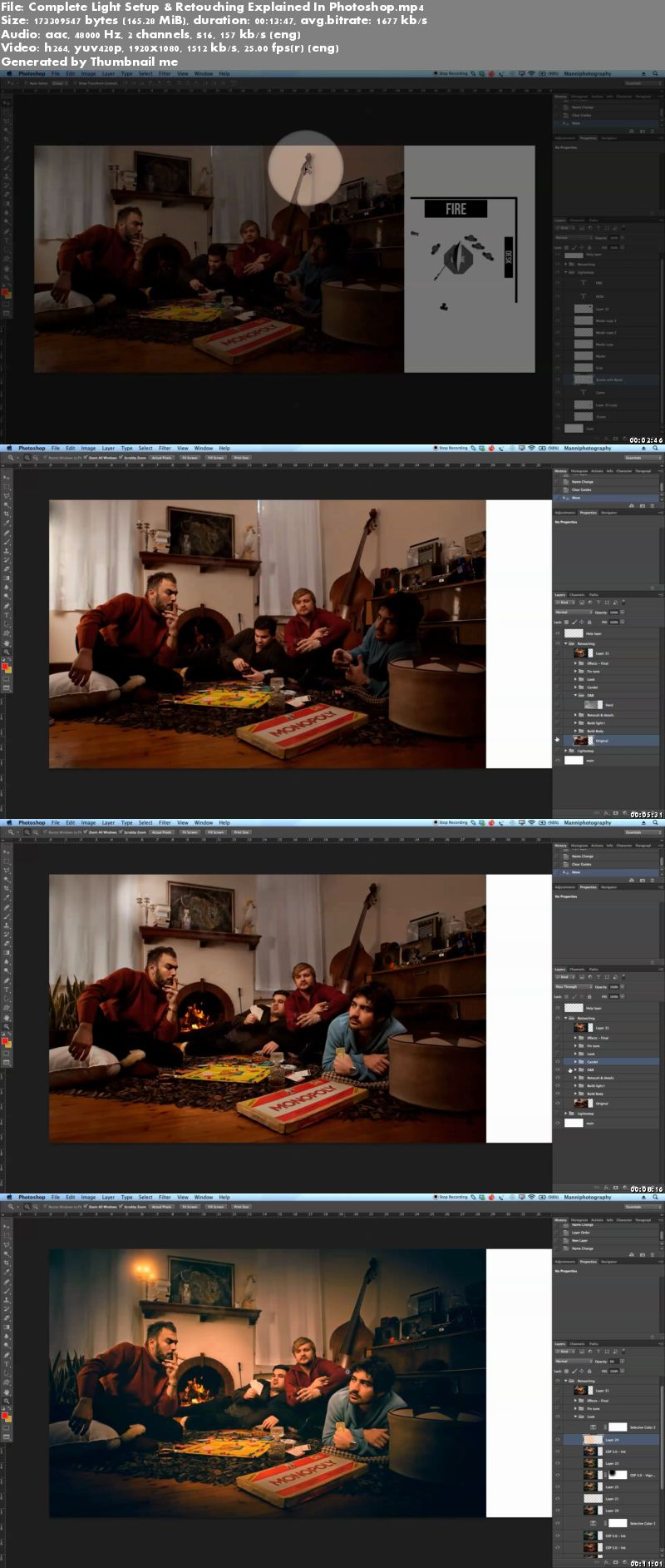 Complete Light Setup & Retouching Explained In Photoshop