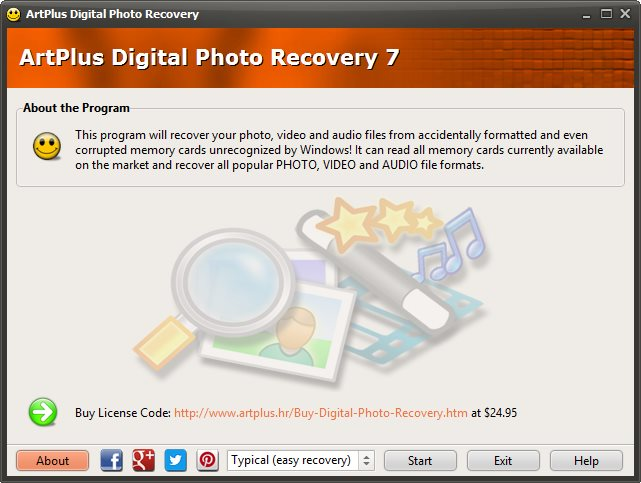 ArtPlus Digital Photo Recovery 7.0.9.164 + Portable
