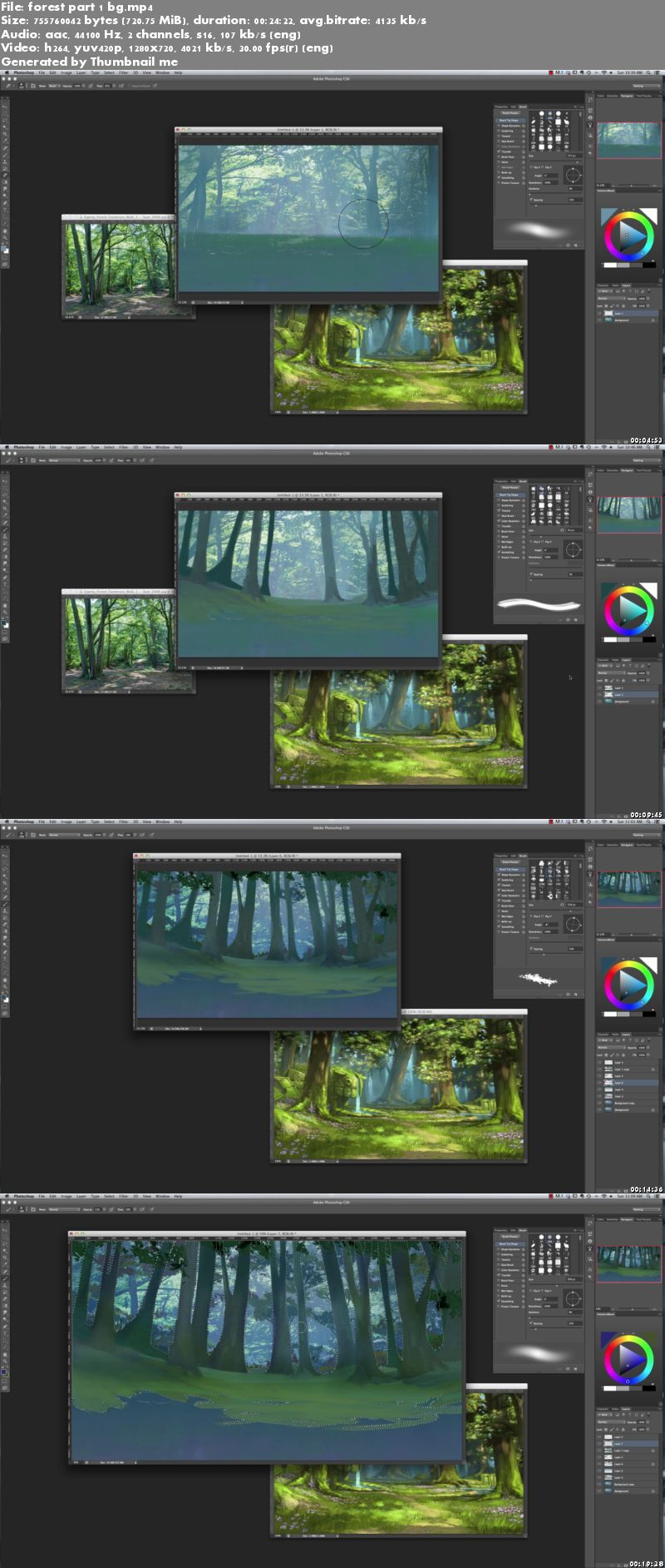 Painting a Fantasy Style Forest by Tyler Edlin