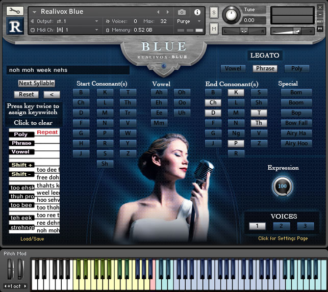 Realitone Realivox Blue KONTAKT Player Version
