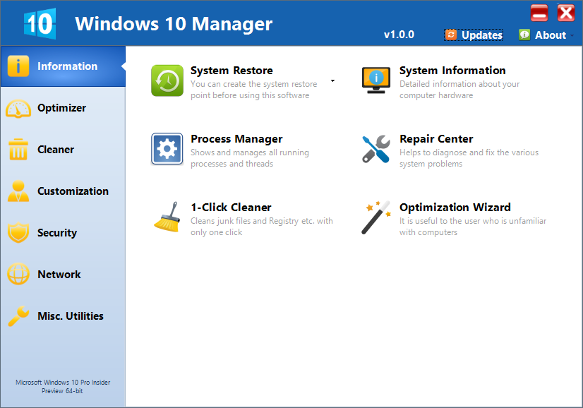 Yamicsoft Windows 10 Manager 1.0 Final