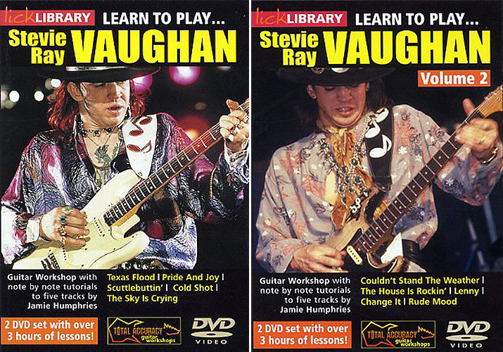 Lick Library - Learn to Play Stevie Ray Vaughan - DVDRip - Volume 1 & 2 [Repost]