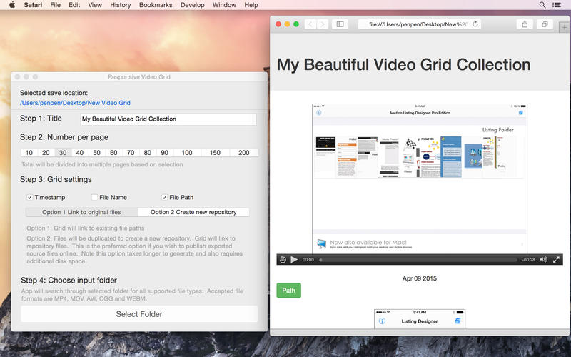 Responsive Video Grid 2.0 Multilangual Mac OS X