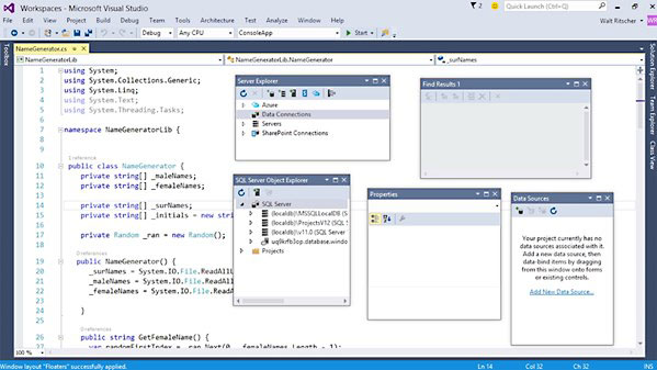 Lynda - Visual Studio 2015 Essentials 02: Getting Comfortable with the IDE