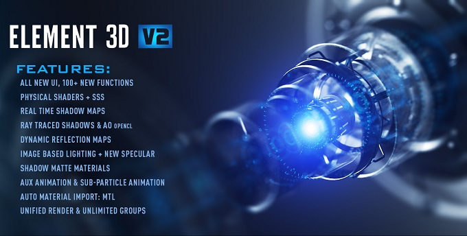 Element 3D v2.2.1 Plugin for AE