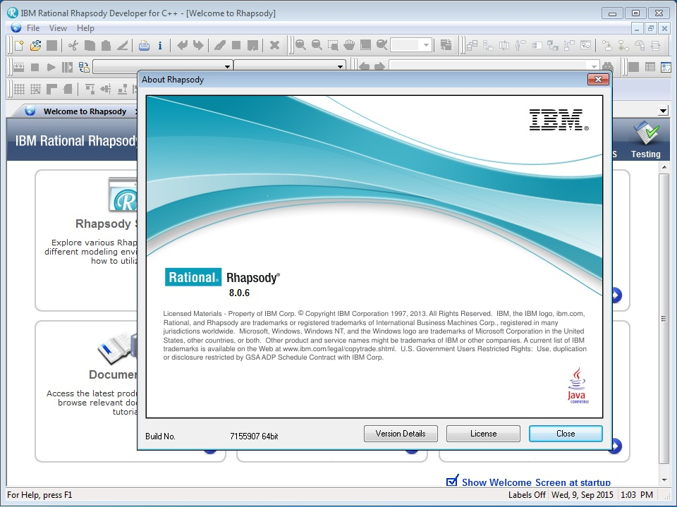 IBM Rational Rhapsody 8.06