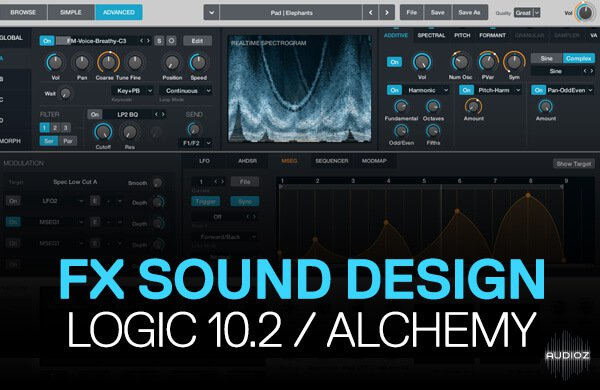 Special FX Sound Design In Logic Pro 10.2 / Alchemy (2015)