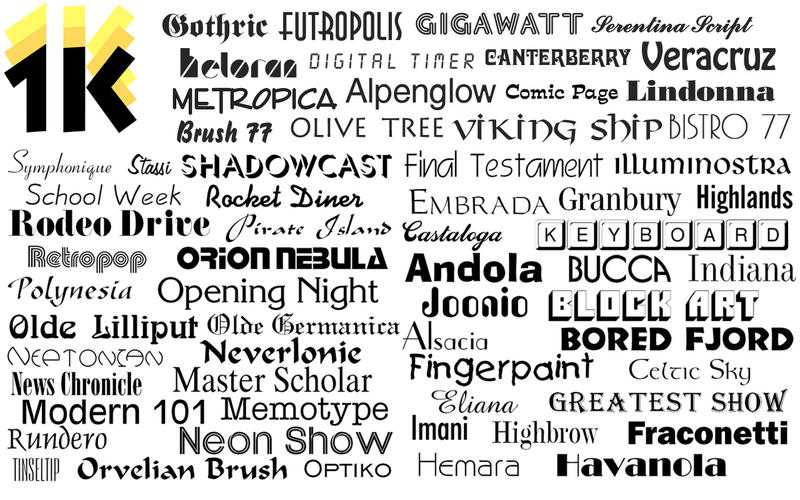 1000 OpenType Fonts v2.1 Multilingual Retail