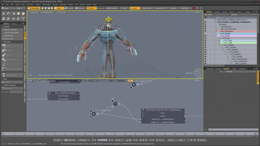 Modo - Character Rigging Course by Sergio Mucino (Course 1+2)