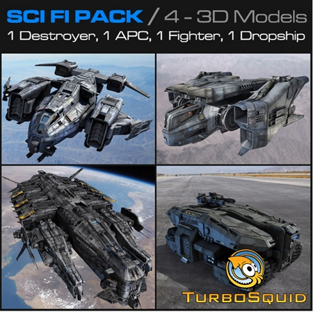 Turbosquid 3D Model: SCI FI Pack