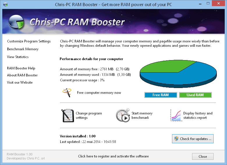 Chris-PC RAM Booster 2.40
