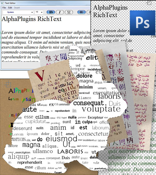 AlphaPlugins RichText 1.0 for Photoshop Mac OS X