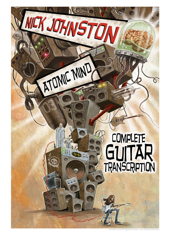 Nick Johnston - Soloist Atomic Mind - Complete Guitar Transcription